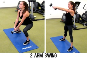 This can be performed with a dumbbell if you do not own a kettlebell