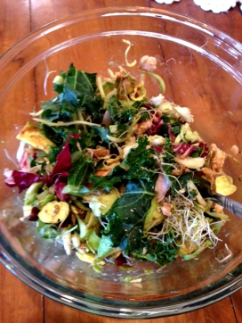 Kale, Brussel and Alfalfa Sprout Salad